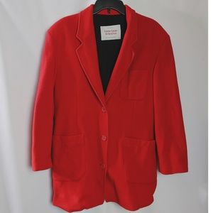 Vintage United Colors of Benetton Red Wool Blazer